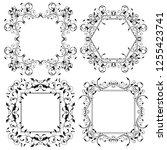 floral frames. filigree... | Shutterstock . vector #1255423741