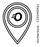 letter o and map pin. logo...