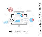 seo optimization concept.... | Shutterstock . vector #1255443214