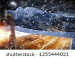 table background with blured... | Shutterstock . vector #1255444021