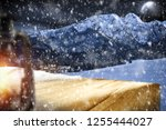 table background with blured... | Shutterstock . vector #1255444027