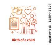 family concept icon. child... | Shutterstock .eps vector #1255445524