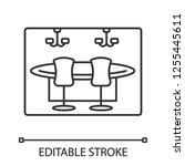 casino linear icon. gambling... | Shutterstock .eps vector #1255445611