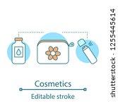 cosmetics concept icon. makeup... | Shutterstock .eps vector #1255445614