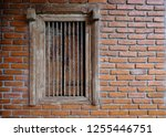 old brick wall with brick... | Shutterstock . vector #1255446751