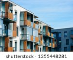 fragment of apartment house and ... | Shutterstock . vector #1255448281