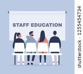staff education. office... | Shutterstock .eps vector #1255454734