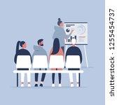 staff education. office... | Shutterstock .eps vector #1255454737
