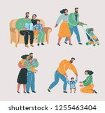 vector cartoon illustration of... | Shutterstock .eps vector #1255463404