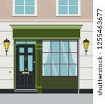 vector image of london house... | Shutterstock .eps vector #1255463677