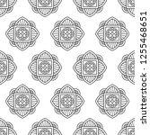 eastern black and white flower... | Shutterstock .eps vector #1255468651