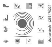 circular diatram icon. simple... | Shutterstock .eps vector #1255470337