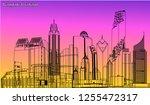 vector city bangkok thailand 3d ...   Shutterstock .eps vector #1255472317