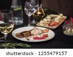 lagustine tartare on christmas...   Shutterstock . vector #1255479157