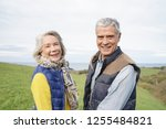 healthy senior couple on... | Shutterstock . vector #1255484821