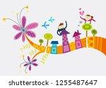 close up of children standing     Shutterstock .eps vector #1255487647