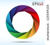 Colorful camera shutter background,Illustration eps10 - stock vector