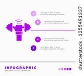 dumbbell  gain  lifting  power  ... | Shutterstock .eps vector #1255491337