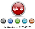 colorful web icons set on white ... | Shutterstock . vector #125549255