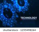 gears. abstract vector...   Shutterstock .eps vector #1255498264
