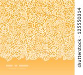 golden lace roses horizontal... | Shutterstock .eps vector #125550314