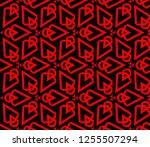 decorative wallpaper design in... | Shutterstock .eps vector #1255507294