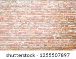 red messy grunge brick wall... | Shutterstock . vector #1255507897