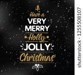 merry christmas. typography.... | Shutterstock .eps vector #1255508107