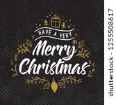 merry christmas. typography.... | Shutterstock .eps vector #1255508617