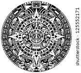 vector of mayan calendar on... | Shutterstock .eps vector #125552171