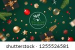 merry christmas and happy new... | Shutterstock .eps vector #1255526581