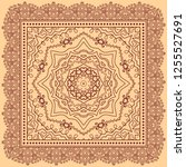 bandana print  silk neck scarf... | Shutterstock .eps vector #1255527691