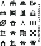 solid black vector icon set  ...   Shutterstock .eps vector #1255530121