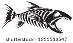 Fish Skeleton Black And White