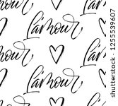 l'amour   love in french ... | Shutterstock .eps vector #1255539607