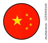 flag china   flat style design... | Shutterstock .eps vector #1255543144