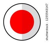 flag japan   flat style design... | Shutterstock .eps vector #1255543147