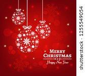 merry christmas vector... | Shutterstock .eps vector #1255549054