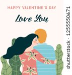 romantic illustration with... | Shutterstock .eps vector #1255550671