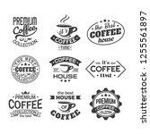set of isolated retro logo for... | Shutterstock .eps vector #1255561897
