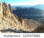 high altitude mountain scene | Shutterstock . vector #1255573081