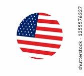 usa us flag banner curved lines ... | Shutterstock .eps vector #1255576327