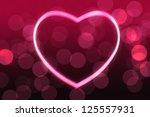 glowing heart shape with bokeh... | Shutterstock . vector #125557931