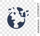 destroyed planet icon. trendy... | Shutterstock .eps vector #1255581877