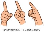 cartoon graphic white human... | Shutterstock .eps vector #1255585597