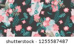 creative fashion seamless... | Shutterstock .eps vector #1255587487