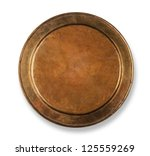 Copper Plate On White With...