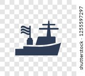 warship icon. trendy warship... | Shutterstock .eps vector #1255597297