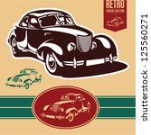 vintage car label | Shutterstock .eps vector #125560271