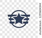 insignia icon. trendy insignia... | Shutterstock .eps vector #1255604344